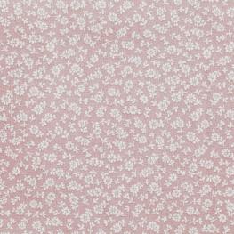 Tissu Coton Cretonne Petit Fleuri - Vieux rose