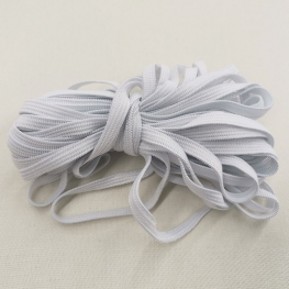 Ruban élastique à 5mm Blanc - 10 mètres