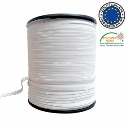 Ruban élastique à 5mm Blanc - 400 mètres
