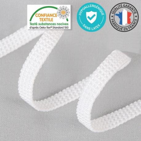 Ruban Elastique Hypoallergénique Sans Latex au mètre - 6mm Blanc