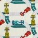 Tissu Coton Cretonne Circuit F1- Ecru