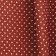 Tissu Popeline Coton Petit Pois - Rouille & Blanc