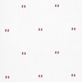 Tissu piqué de coton Drapeau Français - Blanc & Bleu Blanc Rouge