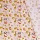 Tissu Popeline Coton Bio Animaux de la Savane - Rose