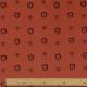 Tissu Popeline Coton Bio Léopard & Lion - Orange rouille