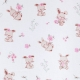 Tissu Popeline Coton Bio Sweet Bunny - Blanc