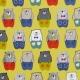 Tissu Coton Cretonne Papa Ours - Moutarde