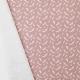 Tissu Popeline Plumes 100% Coton Bio GOTS - Vieux rose