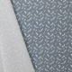 Tissu Popeline Plumes 100% Coton Bio GOTS - Gris
