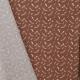 Tissu Popeline Plumes 100% Coton Bio GOTS - Orange brique