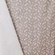 Tissu Popeline Plumes 100% Coton Bio GOTS - Taupe