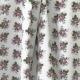 Tissu Popeline Bouquet Fleuri 100% Coton Bio GOTS - Blanc & Violet