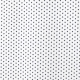 Tissu Popeline Etoile - Blanc & bleu marine