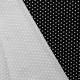 Tissu Popeline Etoile - Noir & blanc