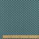 Tissu Popeline Etoile - Bleu pétrole & blanc