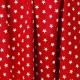 Tissu Popeline Etoile - Rouge & blanc