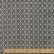 Tissu Popeline Bouquet Blason 100% Coton Bio GOTS - Gris
