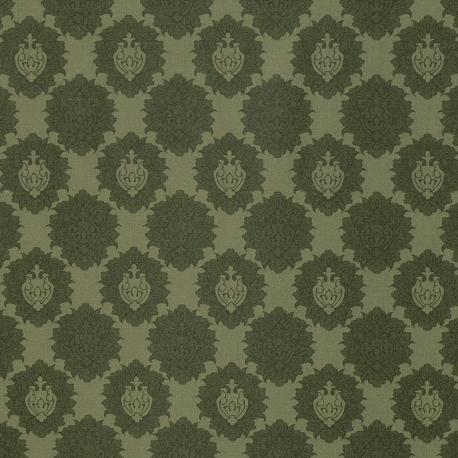 Tissu Popeline Bouquet Blason 100% Coton Bio GOTS - Vert