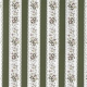 Tissu Popeline Fleur & Ligne 100% Coton Bio GOTS - Vert