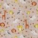 Tissu Popeline Coton Happy Savane - Taupe