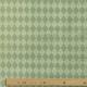 Tissu Popeline Fleur & Losange 100% Coton Bio GOTS - Vert