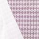 Tissu Popeline Fleur & Losange 100% Coton Bio GOTS - Violet