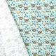 Tissu Popeline Léopard 100% Coton Bio GOTS - Bleu ciel