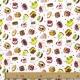 Tissu Coton Cretonne Pâtisserie - Multicolore