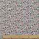 Tissu Coton Cretonne Fleur Sauvage - Ecru et Multicolore