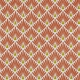 Tissu coton cretonne écailles dorées - Orange Brique