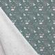 Tissu Popeline Soigner Tous les Bobos 100% Coton Bio GOTS - Bleu gris