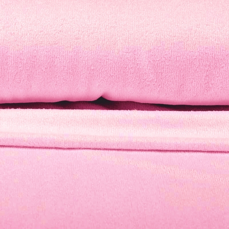 Tissu éponge uni bambou Okeo-Tex - Rose
