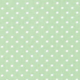 Tissu Popeline Coton Petit Pois - Vert menthe & Blanc