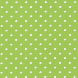 Tissu Popeline Coton Petit Pois - Vert & Blanc
