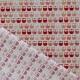 Tissu coton cretonne mini hiboux - Beige & Rouge