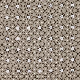 Tissu Coton Cretonne Mosaïque - Beige