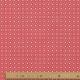 Tissu Coton Cretonne Mosaïque - Corail