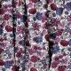 Tissu Coton Cretonne Fleur Sauvage - Blanc & Magenta