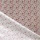 Tissu Coton Cretonne Fleuri Leonie - Rouge & Taupe