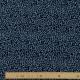 Tissu Velours Leopard - Bleu & Noir