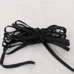 Ruban élastique au mètre - 5mm Noir