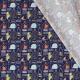 Tissu Popeline Coton Mettre en Bouteille - Bleu marine