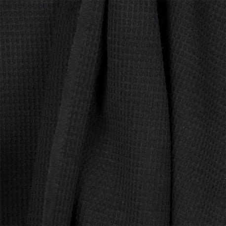 Tissu nid d'abeille - Noir