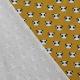 Tissu Flanelle de Coton Panda - Moutarde