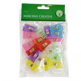 Lot de 20 pinces à tissus multicolores - Taille M
