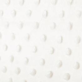 Tissu minky à pois - Écru