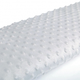 Tissu minky à pois  - Gris clair