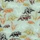 Tissu Jersey Dinosaures Réalistes - Vert