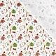 Tissu Popeline Accessoires de Noël 100% Coton Bio GOTS - Blanc