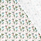 Tissu Popeline Boules de Noël 100% Coton Bio GOTS - Blanc